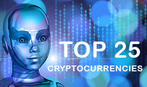 The 25 most prominent cryptocurrencies